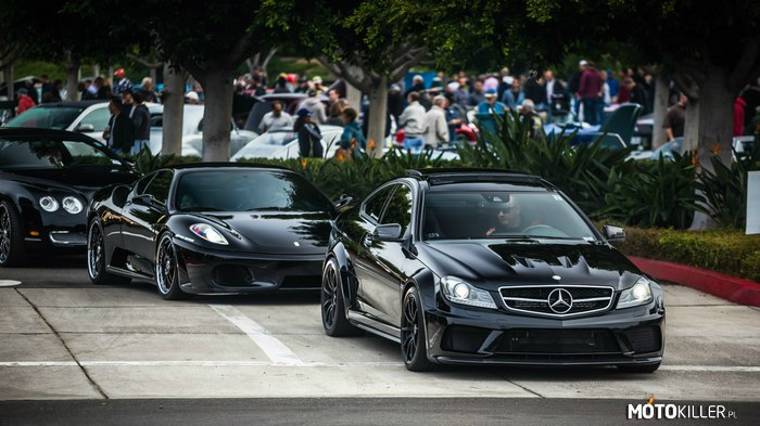 Mercedes C63 AMG Black Series & Ferrari F430 & Bentley Continental –