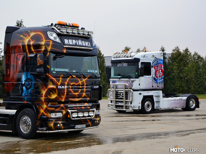 DAF XF105 SSC Hellboy, Renault Magnum 2008 Route 66 –