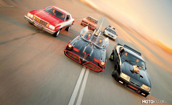 Wataha – Gran Torino - Starsky i Hutch Dodge Charger - Diukowie Hazzardu (serial TV) Batmobil - Batman De Lorean - Powrót do przyszłości Ford Falcon Interceptor - Mad Max