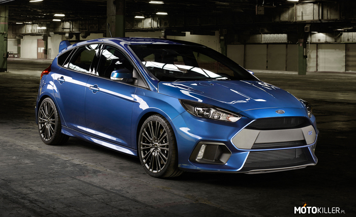 Ford Focus RS – 2.3l EcoBoost, 350 KM, 440 Nm (470 Nm overboost), oraz napęd AWD.