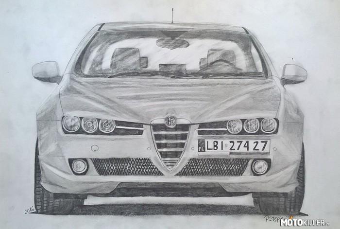 Alfa Romeo 159 Rysunek Ołówkiem