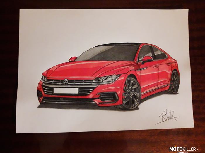 Volkswagen Arteon – Rysunek Volkswagen Arteon Facebook - Car Drawing by Mek