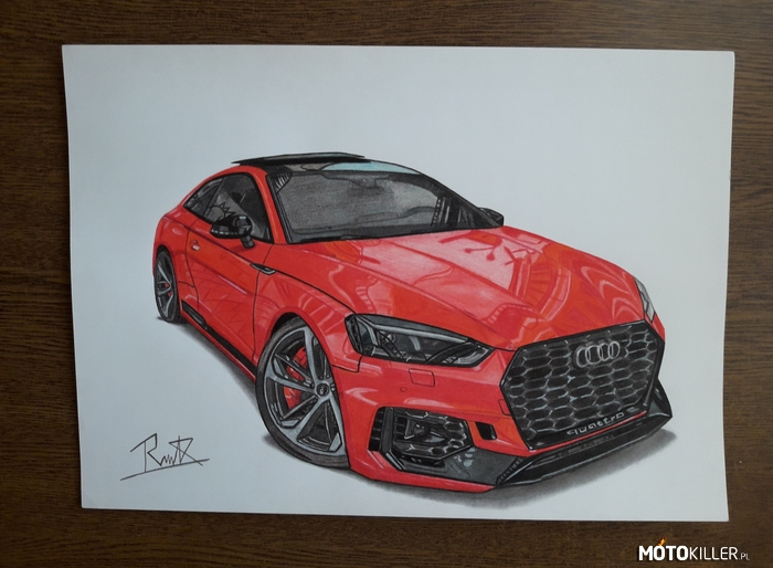 Audi Rs5 – Facebook- car drawing by mek