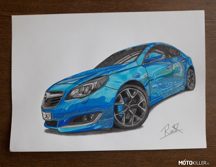 Opel Insignia Opc Line – Opel Insignia Opc Line. Format pracy A3 Facebook Car drawing by mek