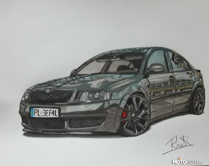 Skoda Superb – Car darwing by mek