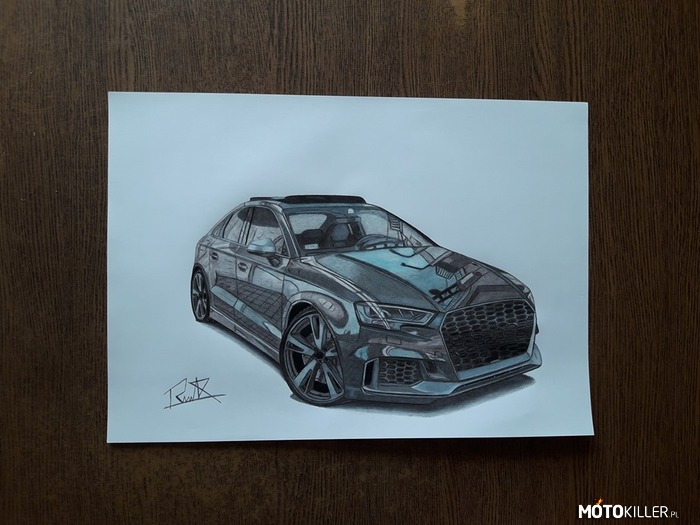 Audi Rs3 sedan – Facebook - Car Drawing by Mek