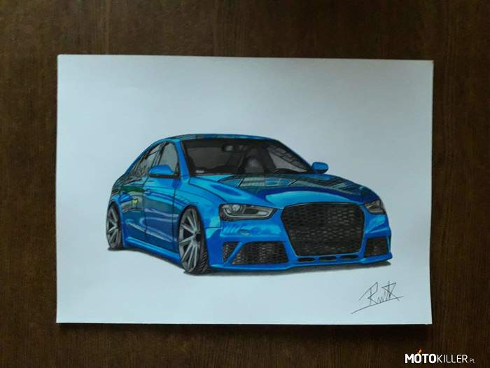 Audi A4 – Facebook Car Drawing by Mek