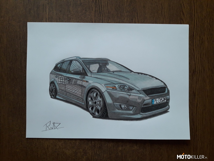 Ford Mondeo Mk4 – Facebook - Car Drawing by Mek