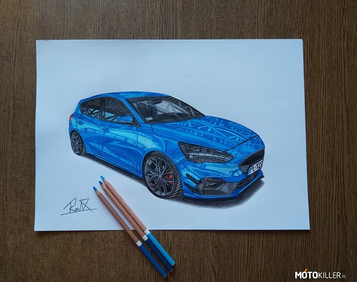 Ford Focus St - line Mk4 – Facebook - Car drawing by Mek