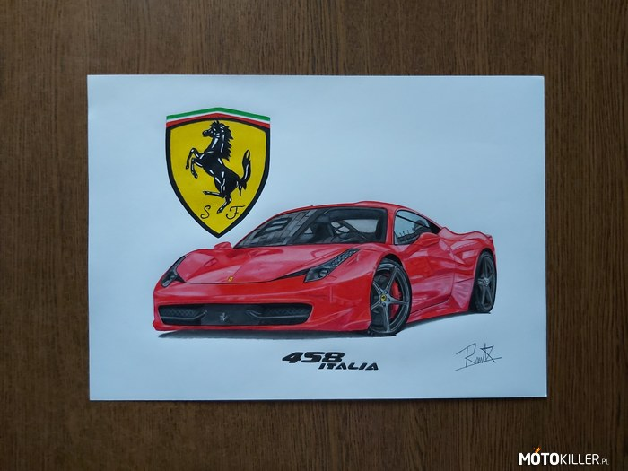 Ferrari 458 Italia – Facebook Car Drawing by Mek