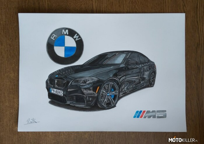 Bmw M5 – Facebook - Car Drawing by Mek